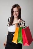 bags lycklig holdingshopping för flicka Royaltyfri Fotografi