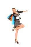 bags lyckligt shoppingbarn för flicka Arkivfoton
