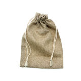 Bags made of cloth on a white background Stock Image