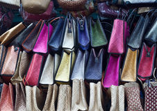 Bags in a market Stock Photo