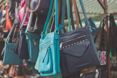 Bags at a market Stock Photo