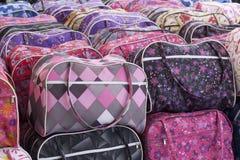 Bags in a Market stock photos