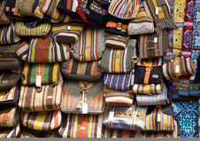 Bags at  market stall Royalty Free Stock Photo