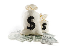 Bags of money Stock Photo