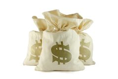 Bags of money Stock Image