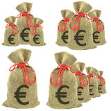 Bags of money Euro Stock Photography