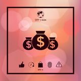Bags of money icon with dollar symbol. Element for your design Stock Image