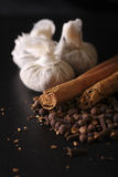 bags mulled wine för calico ingredienser Fotografering för Bildbyråer