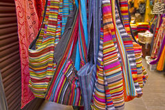 Bags at an oriental market royalty free stock photography