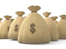 bags pengar arkivbilder