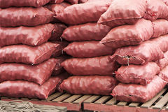 Bags of potatoes Royalty Free Stock Photography
