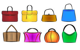 Bags and purses vector illustration. Set, colors changeable vector illustration