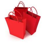 bags röd shoppingtrio