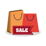 Bags sale and shopping design. Bags and sale icon.Cyber monday shopping and payment theme. Colorful design. Vector illustration stock illustration