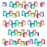 Bags for sale Royalty Free Stock Photos