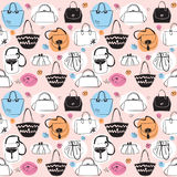 Bags seamless pattern Stock Photo