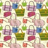 bags seamless texturyellow Vektor Illustrationer