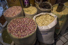 Bags of seed. At sale in a market Royalty Free Stock Photo