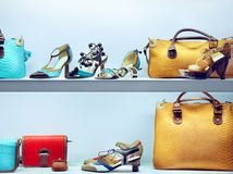 Bags and shoes Royalty Free Stock Photo
