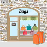 Bags shop or bags store. Royalty Free Stock Photo