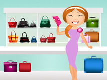 Bags shop Royalty Free Stock Image