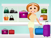 Bags shop Stock Photography