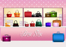 Bags shop Stock Image