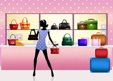 Bags shop Royalty Free Stock Photos