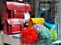 Bags In a Shop Window Royalty Free Stock Image