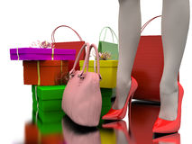 Bags, shopping and gifts vector illustration