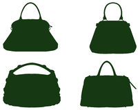 Bags silhouette. Vector file of bags silhouette royalty free illustration