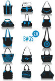 Bags silhouettes 2 Stock Photos