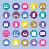 Bags silhouettes icon set, Royalty Free Stock Photos