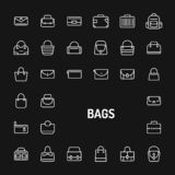 Bags Simple Line Icon Set stock photos