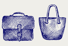 Bags sketch Royalty Free Stock Photos