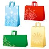 bags snowflakesxmas Arkivbilder