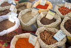 Bags of spices Royalty Free Stock Photography