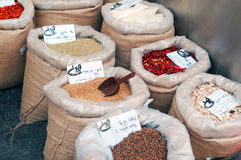 Bags with spices Stock Image