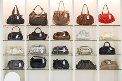 Bags in store Royalty Free Stock Photo
