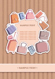 Bags and suitcases background Stock Images