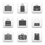 Bags and suitcases icons Royalty Free Stock Photos