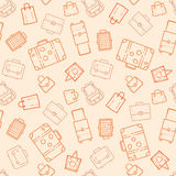 Bags and suitcases seamless pattern Stock Photos