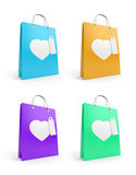 Bags for valentine's day Royalty Free Stock Photo