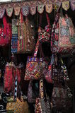 Bags. Village Shop for bags  for buyers . Colourful bags. Rajasthani bags Stock Image