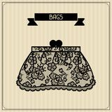 Bags vintage lace background floral ornament Royalty Free Stock Photos