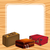 Bags and a white background Royalty Free Stock Images