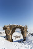 Bagsekisi gate in Ani ancient city, Kars, Turkey. Bagsekisi gate in Ani is a ruined medieval Armenian city now situated in the Turkey`s province of Kars and next Royalty Free Stock Image