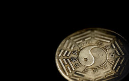 Bagua and Hexagrams on Chinese coin Royalty Free Stock Image