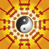 Bagua symbol of Taoism. / Daoism with 8 trigrams with yin yang symbol Royalty Free Stock Images