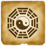 Bagua Yin Yang symbol vintage style Royalty Free Stock Image